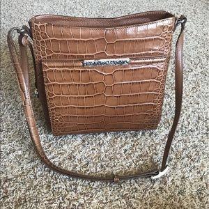Brighton Brown Animal Skin Shoulder Bag